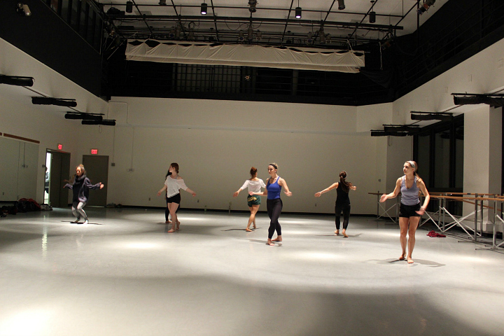 quaintrelle inside the dance studio