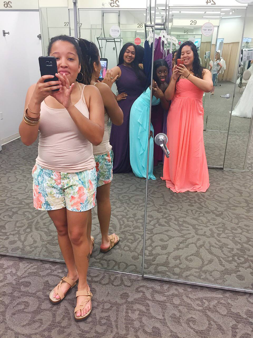 bridesmaid dress fitting