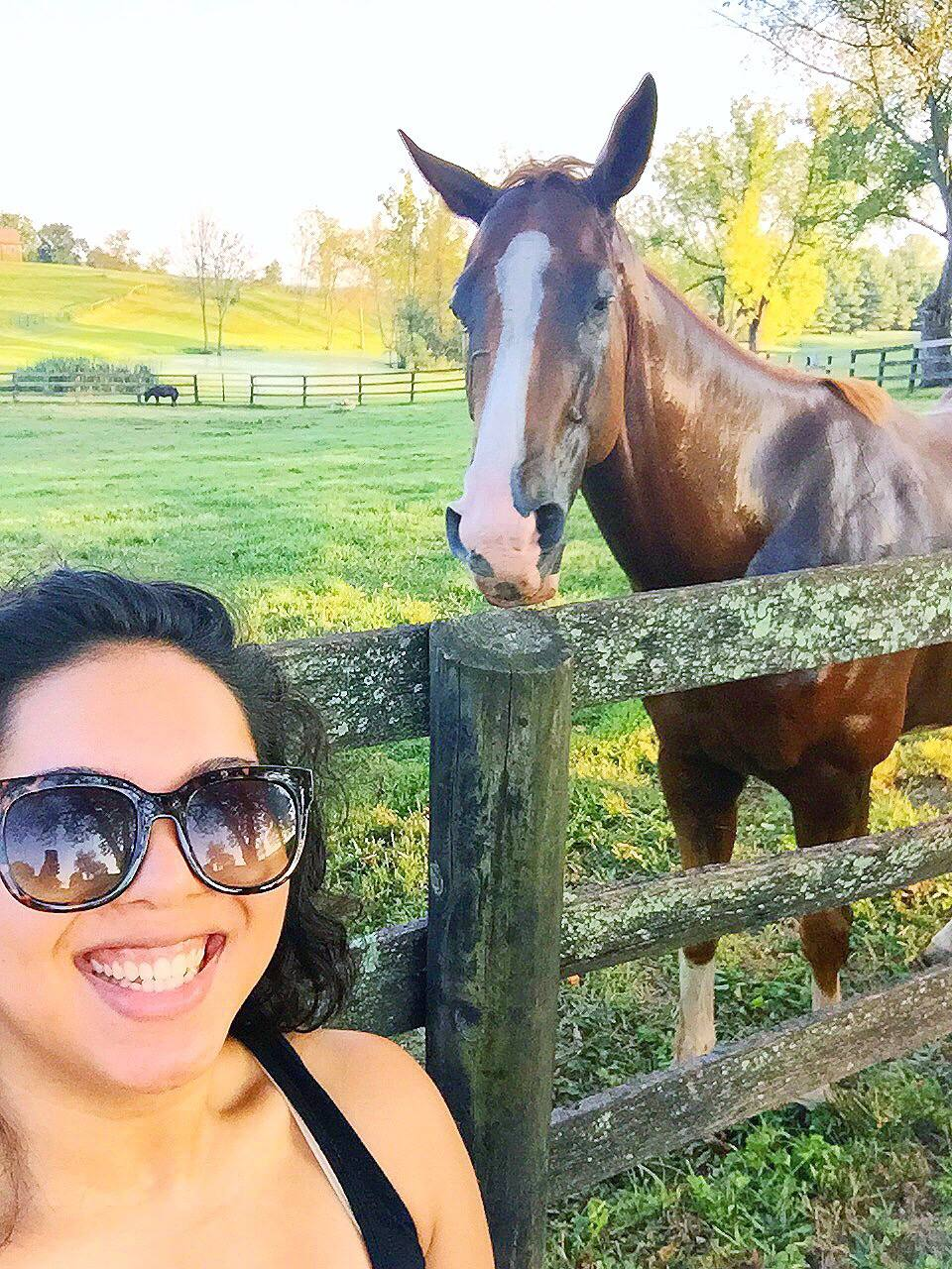 a list for life as of lately horse selfie